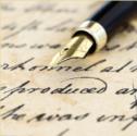 hand geschreven rouwkaart